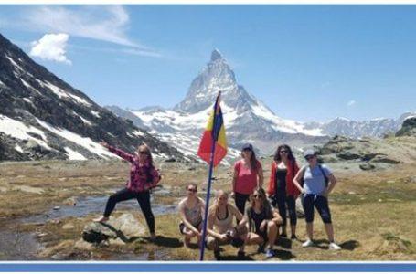 Romanian Women in UK: Drapelul românesc, pe unul dintre cele mai înalte puncte ale Europei