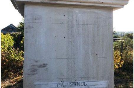 Monument eroului român, grănicer Aurelian Mihăilescu, vandalizat în Basarabia