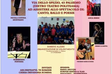 """""""Mândru că sunt român"""", concert la Palermo organizat de Asociația """"Bambini Allegri"""". «Noi, părinții, ne gândim adeseori că ne vom întoarce acasă. Copiii noștri vor fi bilingvi»"""