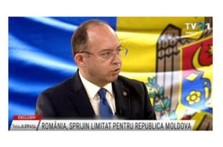 """Ministrul român de Externe Bogdan Aurescu, la TVR: """"Pe noi ne interesează să susţinem o Republică Moldova ca stat care promovează reforma"""