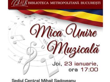 """""""Mica Unire Muzicală"""" la Biblioteca Metropolitană București"""