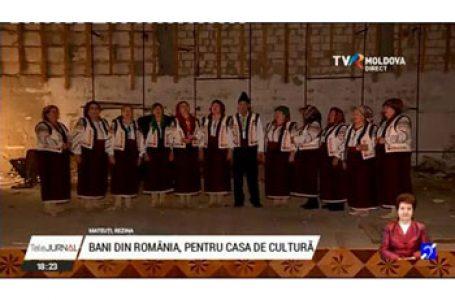 Bani din România pentru reabilitarea Casei de Cultură din satul Mateuţi, raionul Rezina (Republica Moldova)