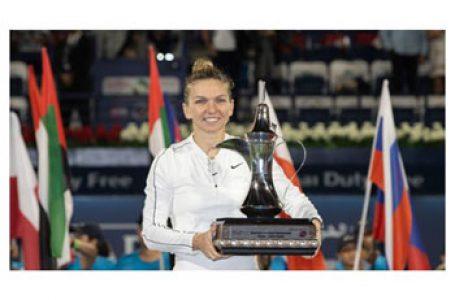 Români care ne fac mândri: Simona Halep, numărul doi mondial, a câştigat turneul WTA de la Dubai (Emiratele Arabe Unite) într-un meci dramatic