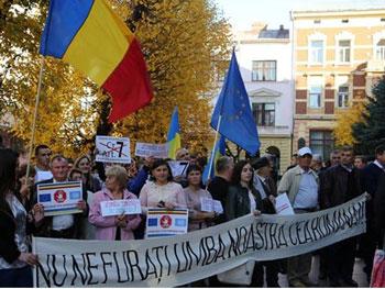 """Românii din Ucraina cer Kievului, încă odată, anulare a prevederilor legilor care lichidează """"drepturile istorice la învățământ în limba maternă"""""""