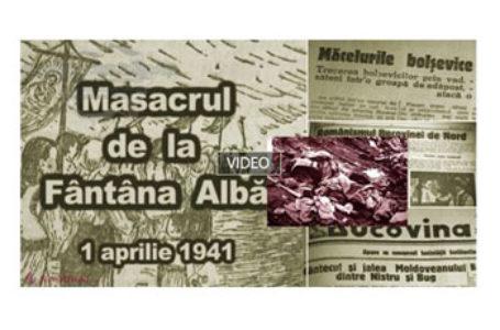 Comemorarea miilor de români uciși la Fântâna Albă, în Nordul Bucovinei