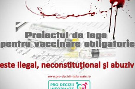 Protest național împotriva Legii cu tentă nazistă a Vaccinării Obligatorii, sâmbătă 7 martie, la București