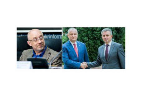 În timp ce Dodon vinde localități separatiștilor proruși, ministrul său simulează discuții cu ministrul ucrainean al teritoriilor ocupate de Rusia