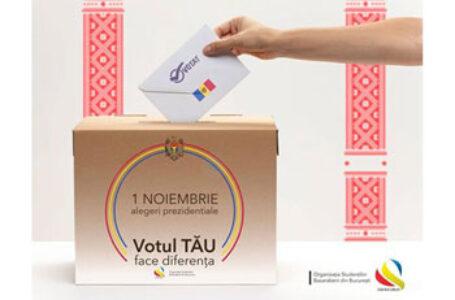 """""""Votul TĂU face diferenţa!"""" – campanie a Organizaţiei Studenţilor Basarabeni de la Bucureşti, în contextul alegerilor din Republica Moldova"""
