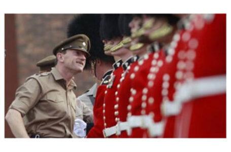 """Un român a condus """"Irish Guards"""" la ceremonialul funerar al prințului Philip al Marii Britanii"""